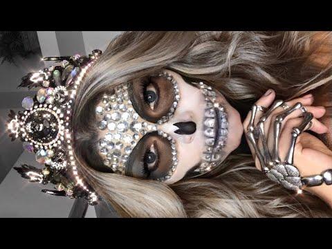easy diamond skeleton queen halloween makeup tutorial