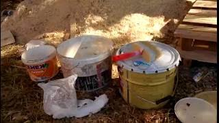 видео Чем покрасить баню