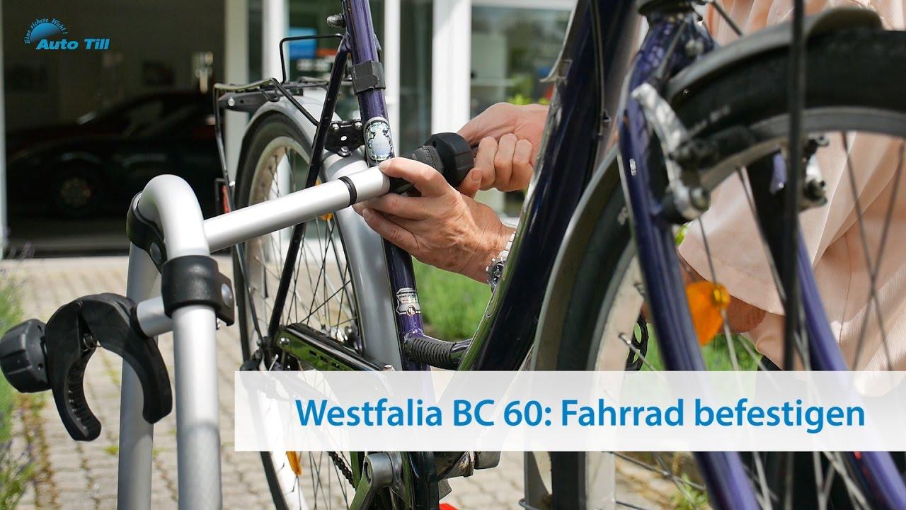 fahrrad an westfalia fahrradtr ger bc 60 befestigen tutorial youtube. Black Bedroom Furniture Sets. Home Design Ideas