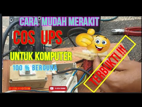 alternatif  jika ups rusak # alternatively if the Uninterruptible Power Supply (UPS) is damaged