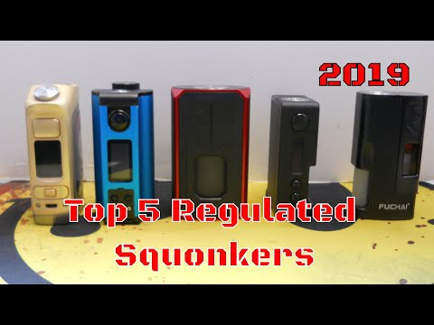 Top 5 Squonkers Of 2019 That I Reviewed / Regulated Only / Best Squonk Mod