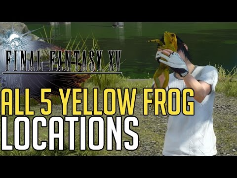 Final Fantasy XV ALL 5 YELLOW FROG LOCATIONS (A PROFESSOR'S PROTEGE - YELLOW FROGS GUIDE)