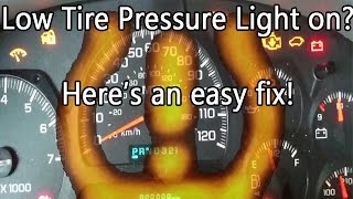 Low Tire Pressure Light on? Here's an easy Fix! Chevy Trailblazer TPMS
