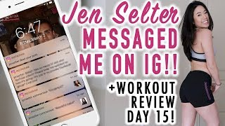 Why JEN SELTER Messaged Me!! 😱+ Day 15 Ultimate Booty Workout Challenge | Fitplan App