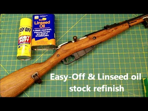 Easy-Off Mosin Nagant stock refinish
