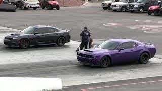 Dodge Demon vs Hellcat Charger - drag racing