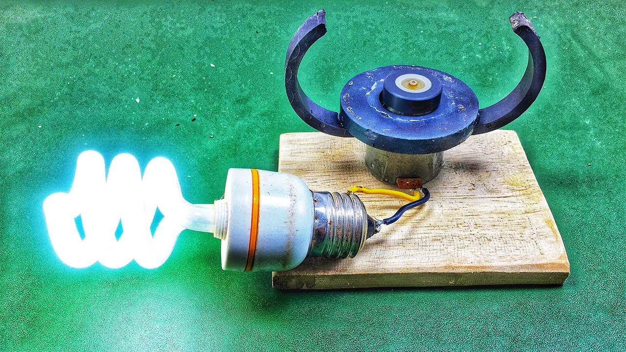 DC Motor Use Free Energy Generator With Magnet 2020