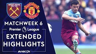 West Ham v. Manchester United | PREMIER LEAGUE HIGHLIGHTS | 9/22/19 | NBC Sports