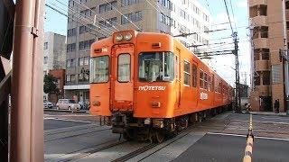 【HD】伊予鉄道 普通列車700系電車 716F 大手町駅発車