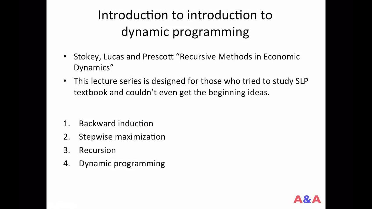 Dynamic programming 00 (intro)