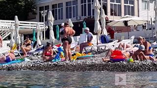ЛАЗАРЕВСКОЕ СОЧИ ул Калараш пляж Лазурный Утренний заплыв