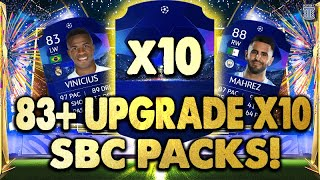 I OPENED X10 83+ UPGRADE x10 SBC PACKS! THIS IS WHAT I GOT! - FIFA 21 ULTIMATE TEAM