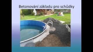 Stavba bazénu Azuro 402 od Mountfieldu-Swimming Pool Installation