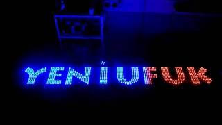 LED буквы с применением пиксельных ьсветодиодов.avi(Буквы изготовлены из светодиодных пикселей типа