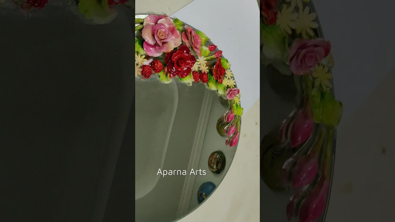 3D Clay Handmade Decorative Flowers / #shorts / Art And Craft
