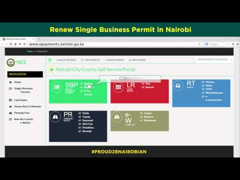 Nairobi Single Business Permit Renewal