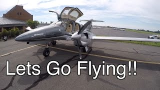 Lets Go Flying! Diamond DA62 Test Flight - Takeoff, Landing, and Review + DA40