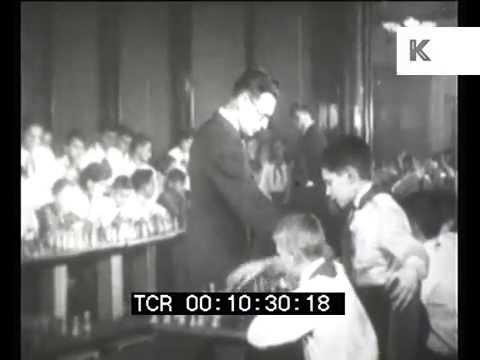 1930s Soviet Union, USSR Children Learn to Play Chess