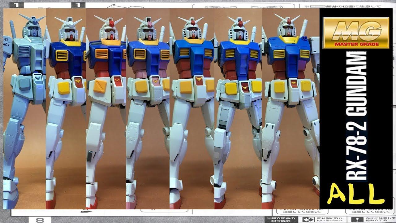 Mg Rx 78 Gundam From 10 To Origin Part Intro Youtube Rx78 2 Verka 114215