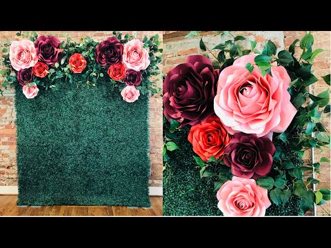 Finally | Designer Paper Flower with Boxwood Hedge Backdrop | How To | Tutorial