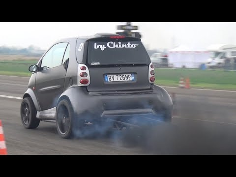 CRAZY Smart Car Swap VW 1.9 - TDI Turbo Diesel Smoking On The Dragstrip!