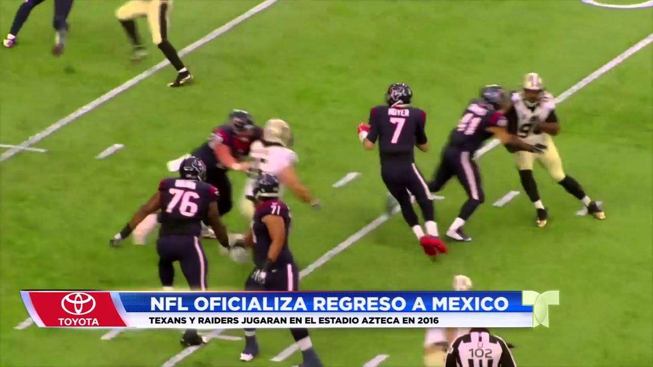 La NFL regresa a Mexico - YouTube 7d0a42a3ece