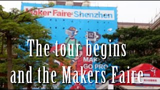 The tour begins and the Makers Faire