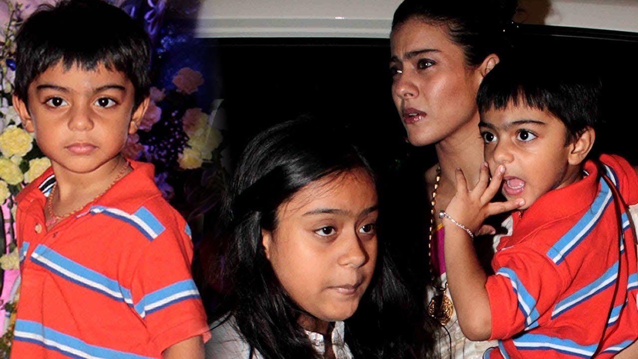 Image result for kajol and ajay devgan and kids