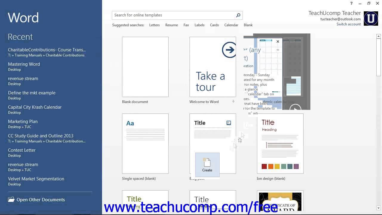 word 2013 tutorial creating new documents 2013 2010 microsoft