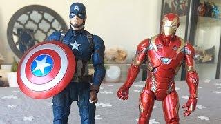 Kaptan Amerika ve Demir Adam Evde Kavga Ediyor | Süper Oyuncaklar