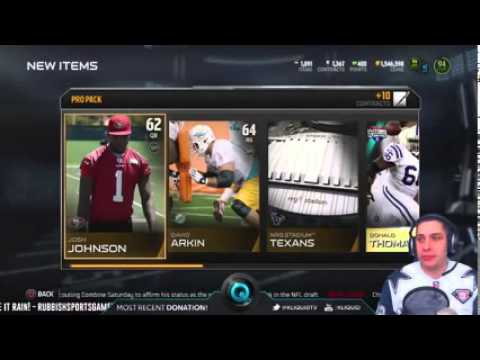 MULTI PACK OPENING on Madden 15 Ultimate Team   New Ultimate Legend Bruce Smith and Ditka!   MUT 15