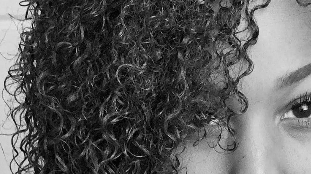 draw curly hair step