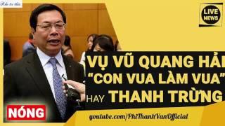 Tin sốc anh Vũ Quang Hải con của cựu bộ trưởng Công thương Vũ Huy Hoàng ra sao??