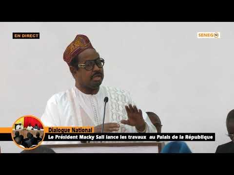 Dialogue National : Ahmed Khalifa Niass Plaide La Cause Des Marabouts Dans Les Institutions...