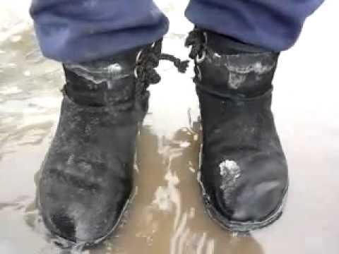 4d8fb193a7 P1070409 MOV kim walk in sluchy snow puddle at work place - YouTube ...