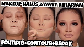 MAKEUP WEDDING AWET SEHARIAN | ANTI LUNTUR,ANTI PECAH,ANTI AIR | PRO COMPLEXION TUTORIAL