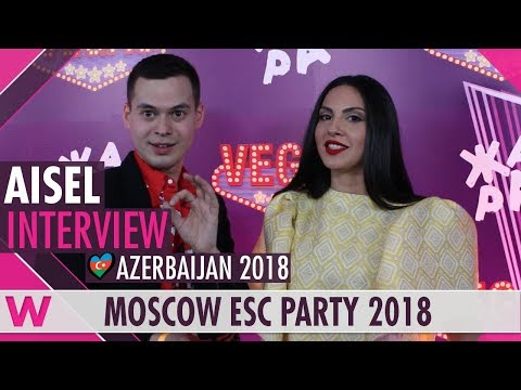 Aisel (Azerbaijan 2018) Interview | Moscow Eurovision Party 2018