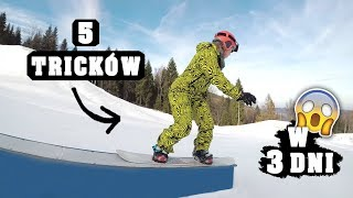 Snowboard Challenge: 5 tricków w 3 dni!  - Smakuj Życie #10 | Agnieszka Grzelak Vlog