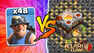 Clash Of Clans | ALL MINERS vs TOWN HALL 11! NEW INSANE GAME PLAY! | MAY 2016 UPDATE!