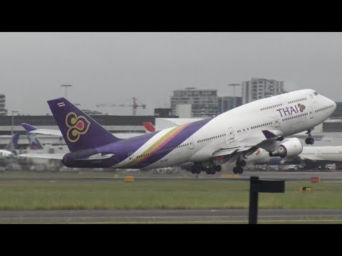 [4K] 20+ Minutes of Amazing Plane Spotting at Sydney Intl. Airport (SYD/YSSY)