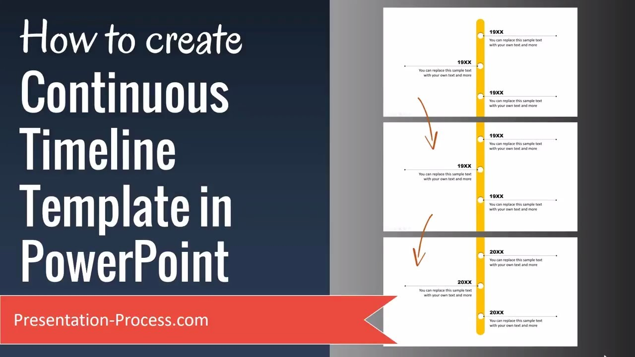 how to create continuous timeline template in powerpoint - youtube, Modern powerpoint