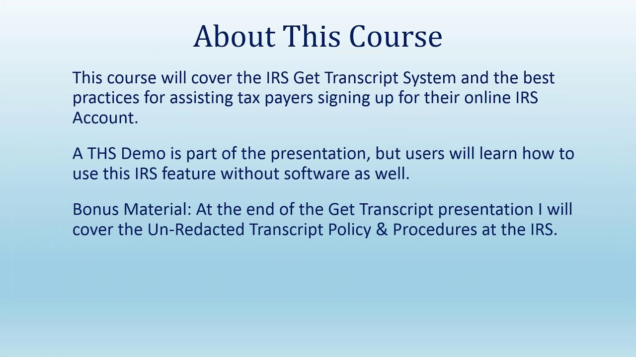 Download Taxpayer's IRS Transcripts Instantly Without a 2848 8821