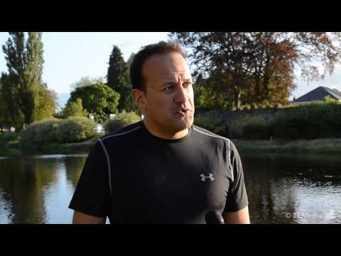 Minister Leo Varadkar Interview - TriAthy Triathlon 2013