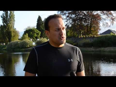 Minister Leo Varadkar Interview - TriAthy Triathlon 2013