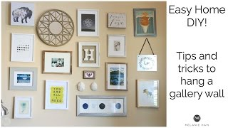 How To Hang A Gallery Wall   Tips And Tricks
