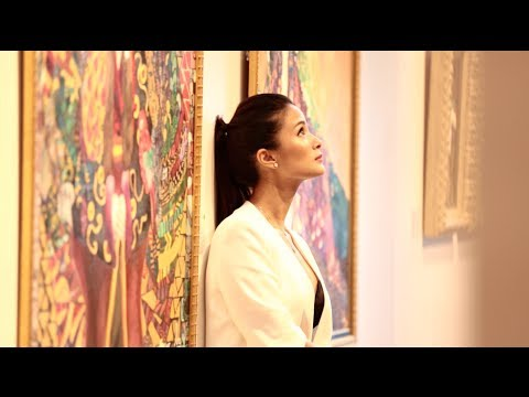 How did actress Heart Evangelista discover her love for painting?  Front Row