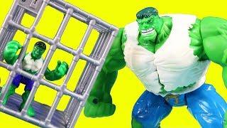 Electronic Raging Hulk Gets Out Of Jail Imaginext Joker ! Superhero Toys
