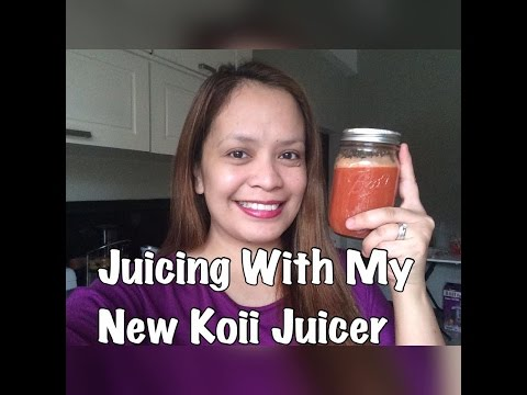 Juicing With My New Koii Juicer