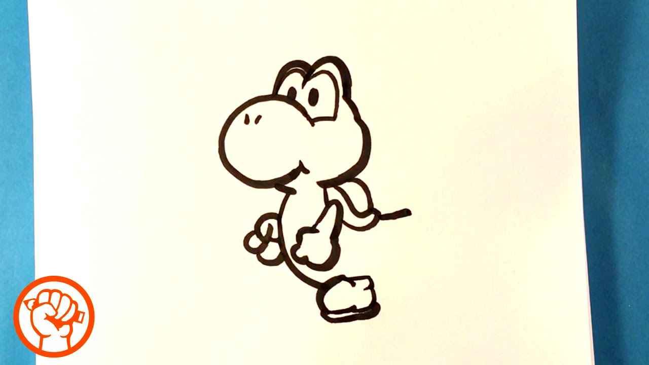 How To Draw Yoshi Super Mario Bros Easy Pictures To Draw Youtube