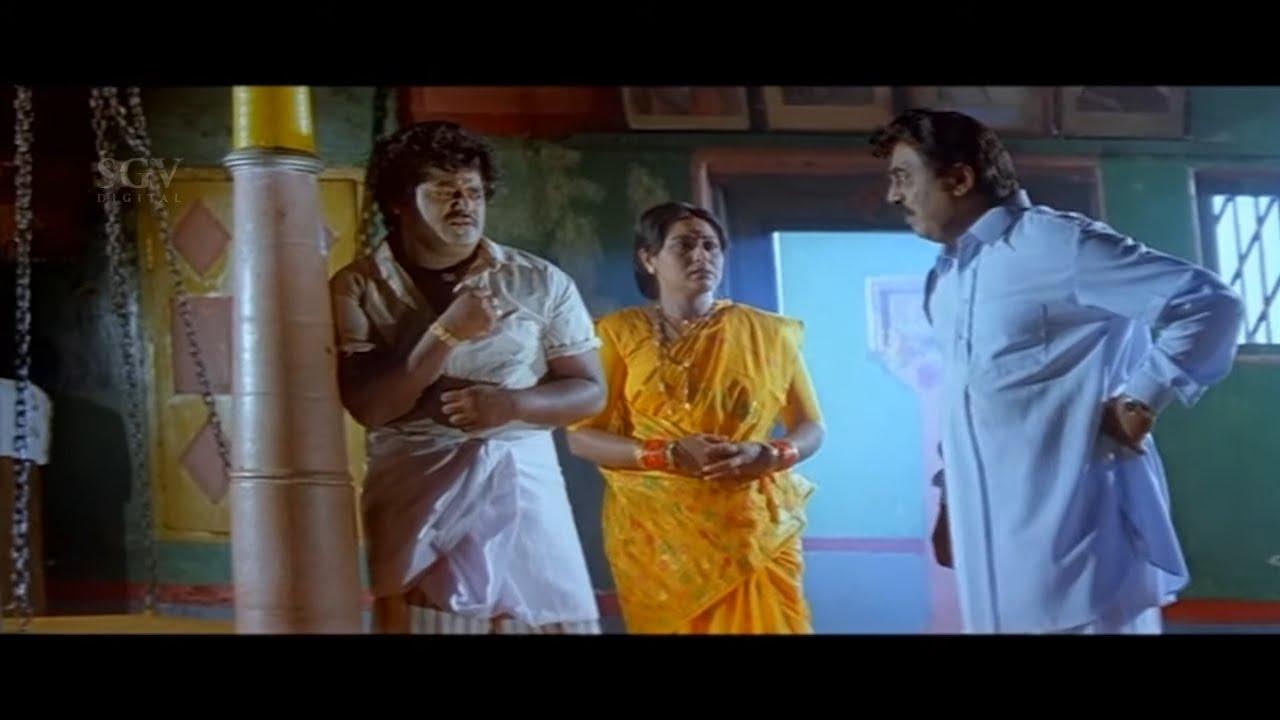 Vajramuni Kicks and Insults Jaggesh | Pramila Joshai | Bhairava Kannada Movie Scene
